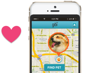 Gibi tracks your pet 24/7 and shows location on GoogleMaps.